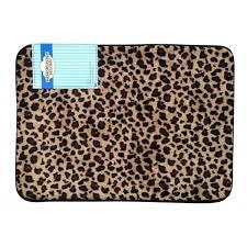 leopard bathroom rug leopard print memory foam bath mat