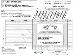 Sample Order Form Sample Order Form Lyman Orchards™ Pies 17