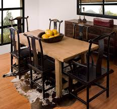 Rustic Dining Table Designs Furniture Smooth Flax Fur Rug Also Upholstered Chairs Mixed With