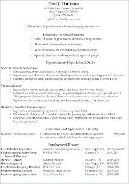 Executive Housekeeper Resume Mesmerizing Housekeeping Resume Sample Housekeeper Resume Sample Executive