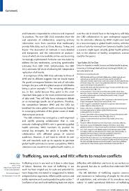 trafficking sex work and hiv efforts to resolve conflicts the  first page of article