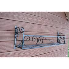 Decorative Window Boxes Window trough holder rack 60in wrought ron scrolled window box 37