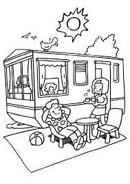 Kleurplaat Vakantie Op De Camping Afb 6598