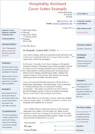 Hospitality Assistant Cover Letter Example Cv Plaza