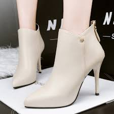 Mature white 40 oz booties
