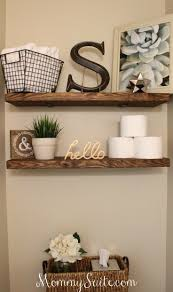 DIY Faux Floating Shelves. Guest BathroomsBathroom StuffBathrooms DecorDownstairs  ...