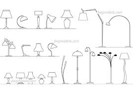 lamps set dwg cad file free