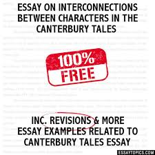 on interconnections between characters in the canterbury tales essay on interconnections between characters in the canterbury tales