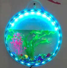 Wall Mounted Fish Tank Light Hot Item Wall Fish Tank Acrylic Wall Aquarium 1 Gallon Fish Bowl 11 5 Inch
