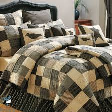 black country primitive patchwork quilt set for twin queen