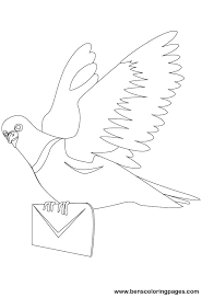 Small Picture Carrier pigeon to color
