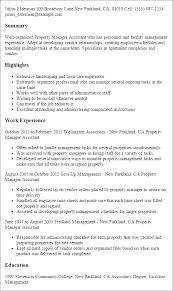 Gallery Of Professional Property Manager Assistant Templates To