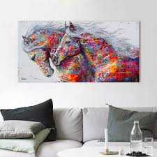 <b>HDARTISAN Wall Art Canvas</b> Pictures The Horses For Living Room ...
