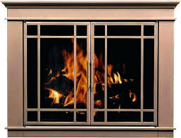 wood burning fireplace glass doors blower stove heatilator