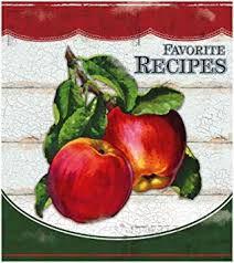 recipe binder set with plastic page protectors and recipe cards vine apples