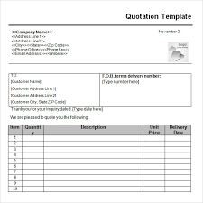 price quotation format doc quotation sample doc delli beriberi co