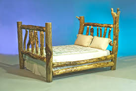 Pine Log Bedroom Furniture Wonderful Log Wooden Master Bed Frames As Rustic Log Furniture