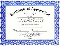 Certificate Of Appreciation Templates Free Download Appreciation Certificate Templates Free Download
