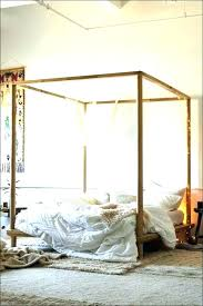 Black Metal Canopy Bed Queen Iron White Frame With Blue Green Cover ...
