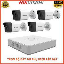 Bộ Camera 4 Mắt IP Hikvision 4 Kênh Full HD 1080P Trọn Bộ Camera Giám Sát  Hikvision Đầy Đủ Phụ Kiện Lắp Đặt | Camera IP
