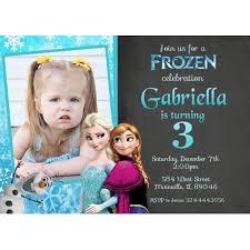 Frozen Birthday Invitations Frozen Princess Elsa Anna Birthday Party Invitation