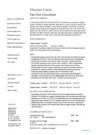 Sap Sd Consultant Resume Sample Sap Consultant Resumes Sample Resume