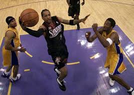 Los angeles lakers game today. My Favourite Game Iverson Stuns Kobe S Lakers In The 2001 Nba Finals Nba The Guardian