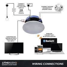 lithe audio all in one 6 5 bluetooth ceiling speaker k b audio lithe audio bluetooth ceiling speaker wiring diagram