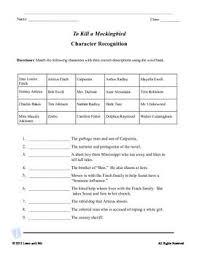 To Kill A Mockingbird Character Chart To Kill A Mockingbird Character Chart Direct And Indirect