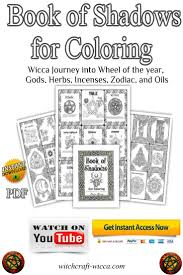 on etsy book of shadows pdf for coloring wicca printables journey into wheel of the year