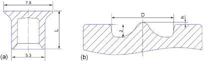 Geometrical Dimensions A Rivet B Die The Unit Is Mm
