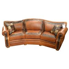 Tucson Conversation Sofa by Omnia Leather USA Made