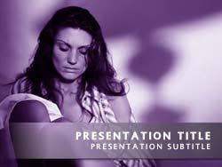 Royalty Free Domestic Violence Powerpoint Template In Purple
