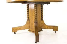 Antique Dining Table  Oak Dining Table  Barley Twist  Circular Table   Canada 1920  B733