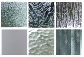 textured glass samples