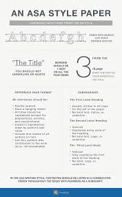 Asa Style Paper Format Styles And Formats Writing Apa How To Write