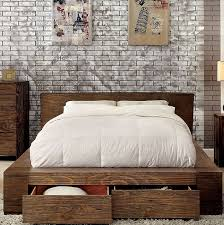 Modern low bed Ideas Janeiro Modern Low Profile Platform Bed With Drawers Furniture Of America Cm7629 Urban Queen King Efurniturehouse Janeiro Modern Low Profile Platform Bed With Drawers