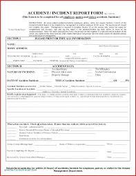 Property Damage Claim Form Template Insurance Report Unique