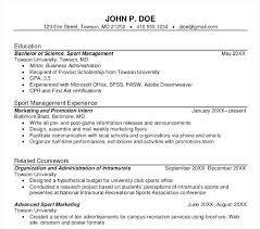 Sports Management Resume Sport Management Resume Objective Statement