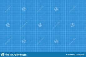 Graph Paper Grid Lines Blueprint Stock Vector Illustration