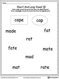 Phonics worksheets and online activities. Vowels Short Or Long A Sound Words Short Vowel Worksheets I Sound Words Vowel Worksheets