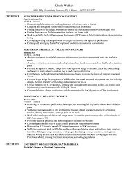 Pre Silicon Validation Engineer Resume Samples Velvet Jobs