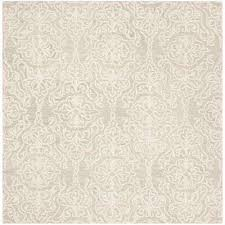 blossom silver ivory 6 ft x 6 ft square area rug