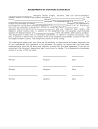 Assignment Of Contract Sample Printable Simple Assignment Of Contract Interest Form 11