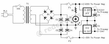 70 watt guitar amplifier red page158 power supply circuit diagram 70 watt guitar amplifier power supply