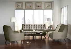 Retro Living Room Furniture Sets Coaster 3 Pieces Natalia Grey Retro Living Room Sofa Set