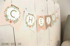 Printable birthday name banner ~ Printable birthday name banner ~ Printable floral banner template couples baby shower bridal