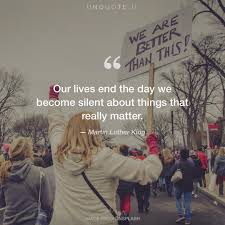 Our Lives End The Day Quote From Martin Luther King Unquote
