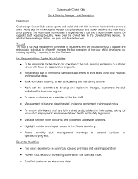 bar manager job description resume examples sample bar and catering sales manager resume for job sample bar