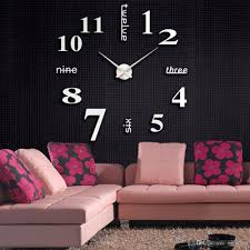 40cm large diy 3d wall clock home modern diy large wall clock 3d mirror surface sticker home decor art design new pendulum wall clocks pendulum wall clocks